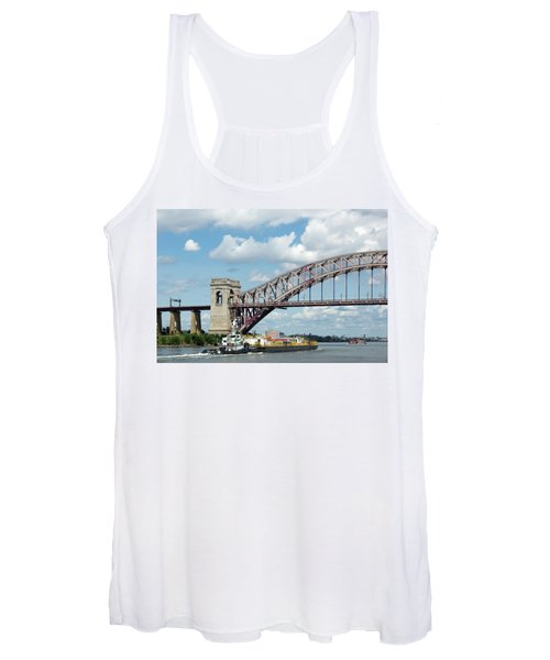 Hell Gate Bridge And Barge Women's Tank Top
