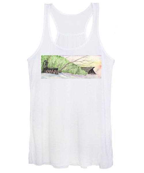Watercolor Barn Women's Tank Top
