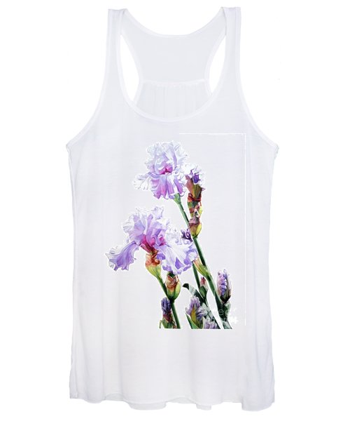 Watercolor Of A Tall Bearded Iris I Call Lilac Iris Wendi Women's Tank Top