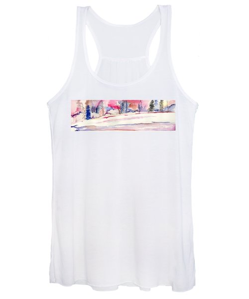 Watercolor River Women's Tank Top
