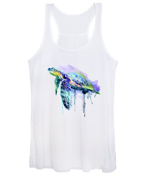 Watercolor Sea Turtle Women's Tank Top