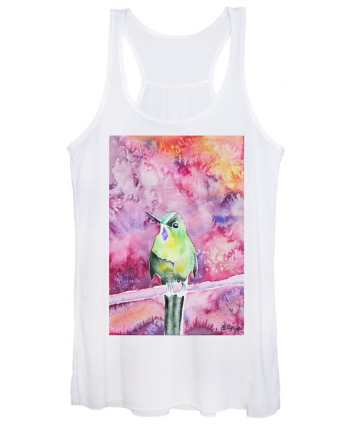 Watercolor - Violet-tailed Sylph Women's Tank Top