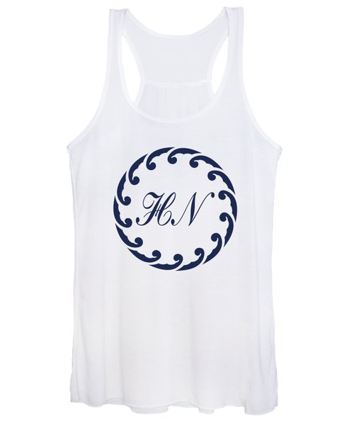 Wave Ring And Cipher In Blue Women's Tank Top