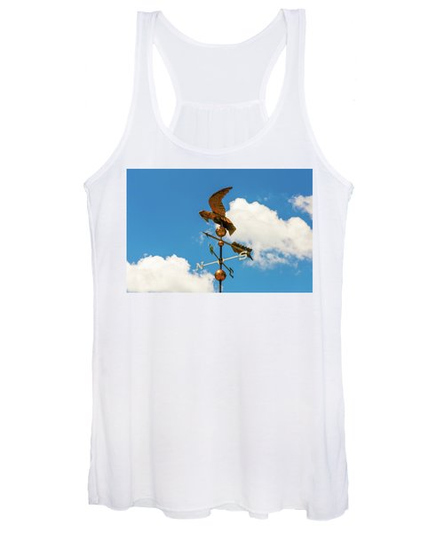 Weather Vane On Blue Sky Women's Tank Top