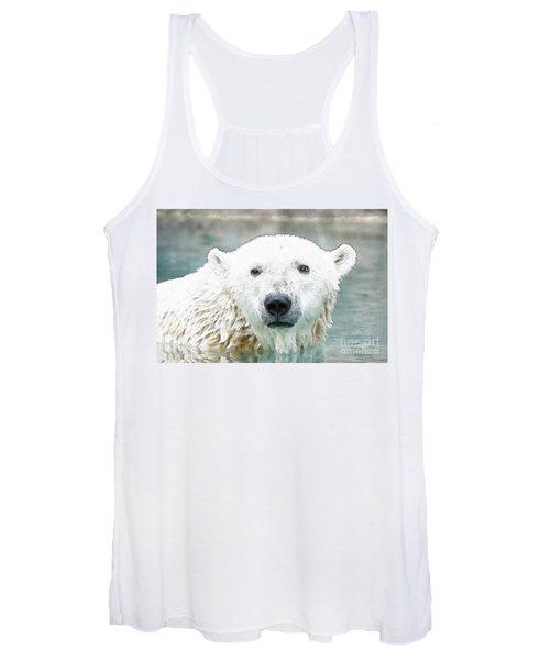 Wet Polar Bear Women's Tank Top