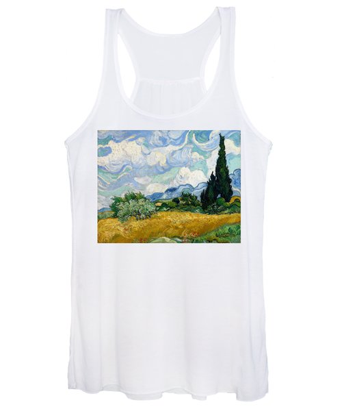 Wheat Field With Cypresses Women's Tank Top