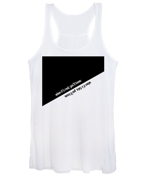 When It's Real Or Fake, You'll Know Women's Tank Top