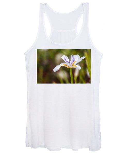 White Beardless Iris Women's Tank Top