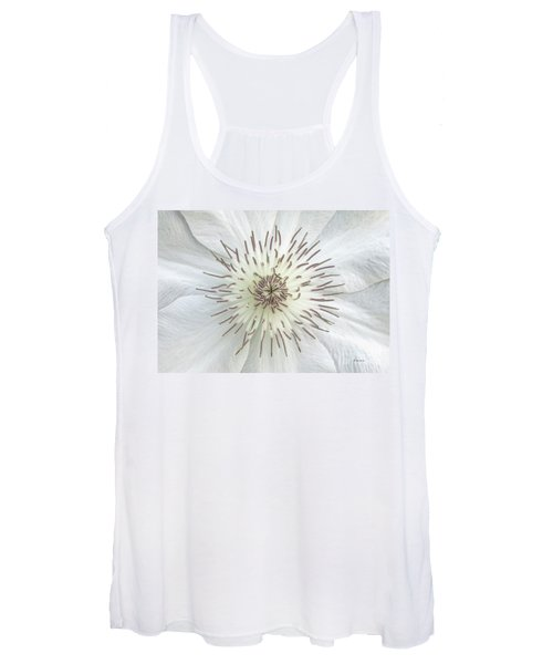 White Clematis Flower Garden 50121b Women's Tank Top