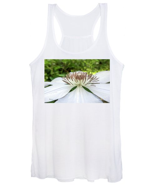 White Clematis Flower Garden 50146 Women's Tank Top