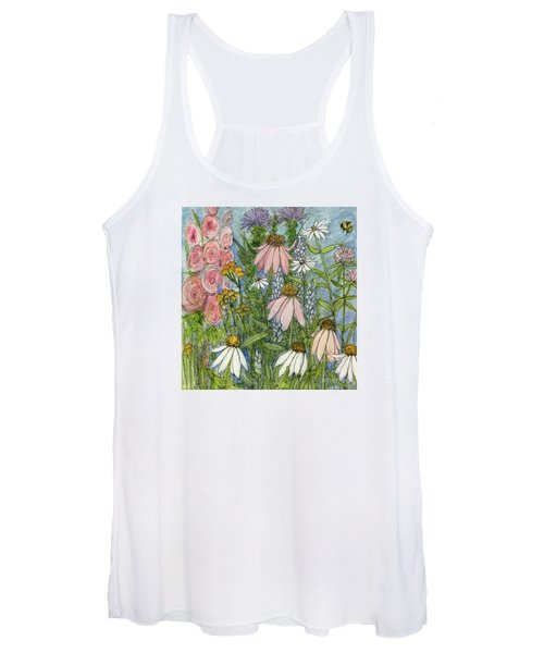 White Coneflowers In Garden Women's Tank Top