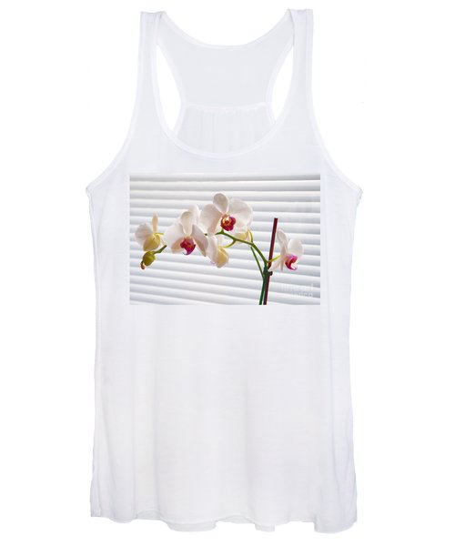 White Orchids On White Women's Tank Top