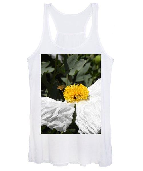 White Poppy Women's Tank Top