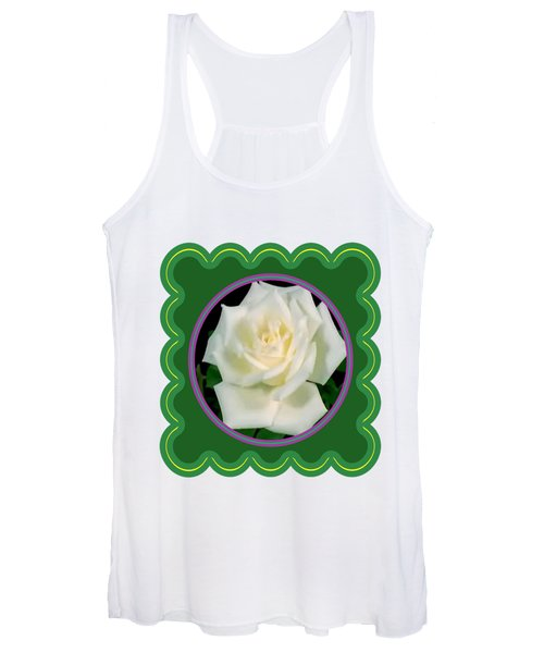 White Rose Flower Floral Posters Photography And Graphic Fusion Art Navinjoshi Fineartamerica Pixels Women's Tank Top