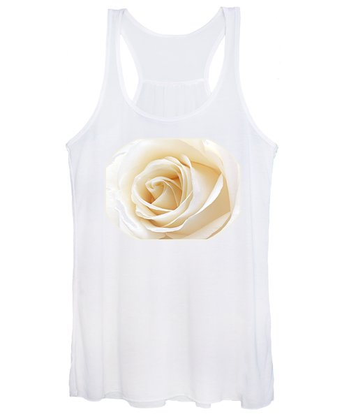White Rose Heart Women's Tank Top