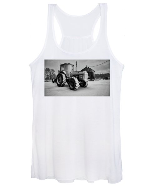 White Tractor Women's Tank Top