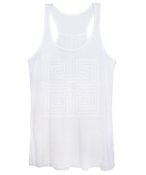 White Transparent Design Women's Tank Top