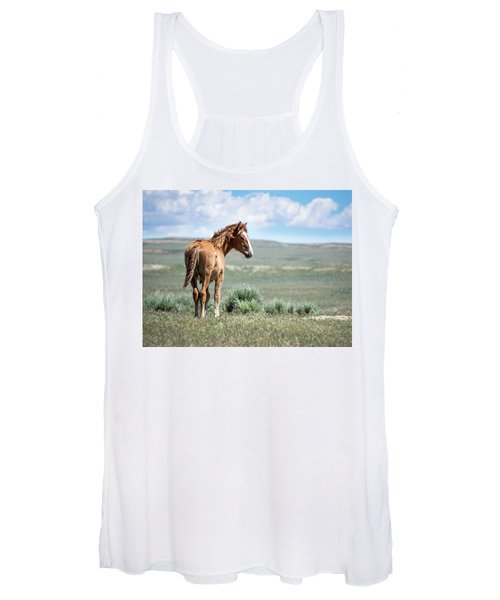 Wild Mustang Colt Of Sand Wash Basin Women's Tank Top