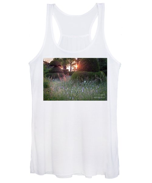 Women's Tank Top featuring the photograph Wildflower Meadow At Sunset, Great Dixter by Perry Rodriguez