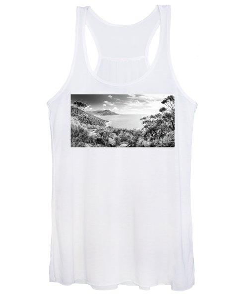 Wilsons Promontory Panorama Black And White Women's Tank Top