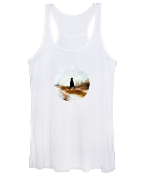 Windmill In The Snow Women's Tank Top