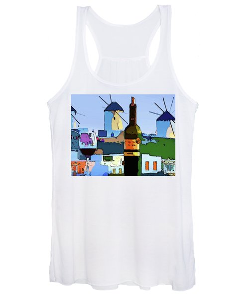 Wine In Mykonos Women's Tank Top