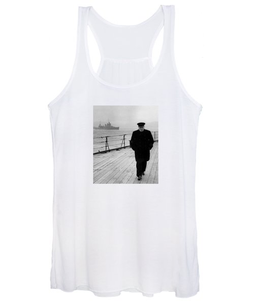 Winston Churchill At Sea Women's Tank Top