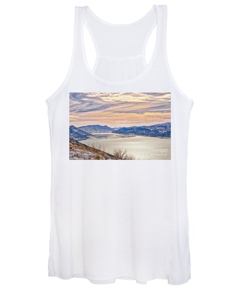Winter At Horsetooth Reservior Women's Tank Top