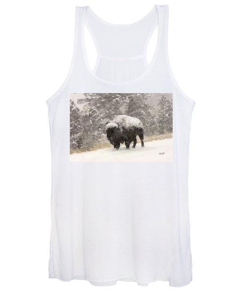 Winter Bison Women's Tank Top