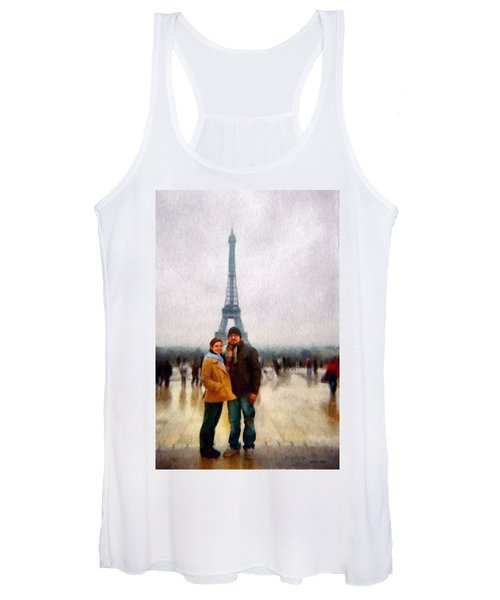 Winter Honeymoon In Paris Women's Tank Top