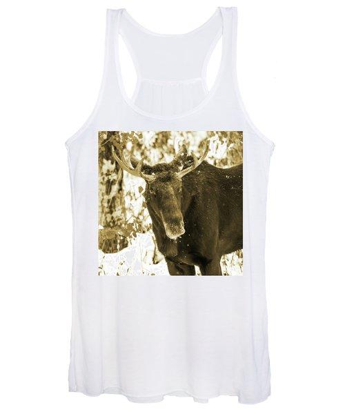 Winter Moose - Sepia Women's Tank Top