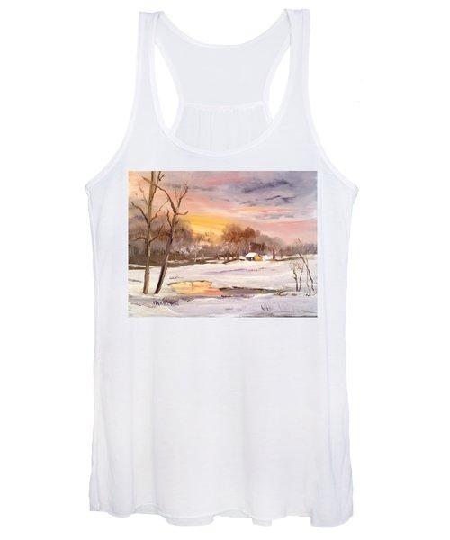 Winter Sunset Women's Tank Top