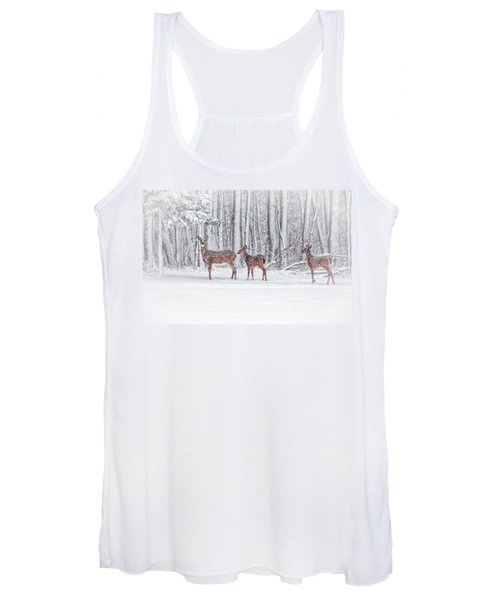 Winter Visits Women's Tank Top
