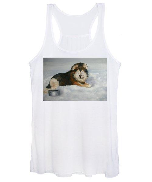 Wolf ,crossed  Women's Tank Top