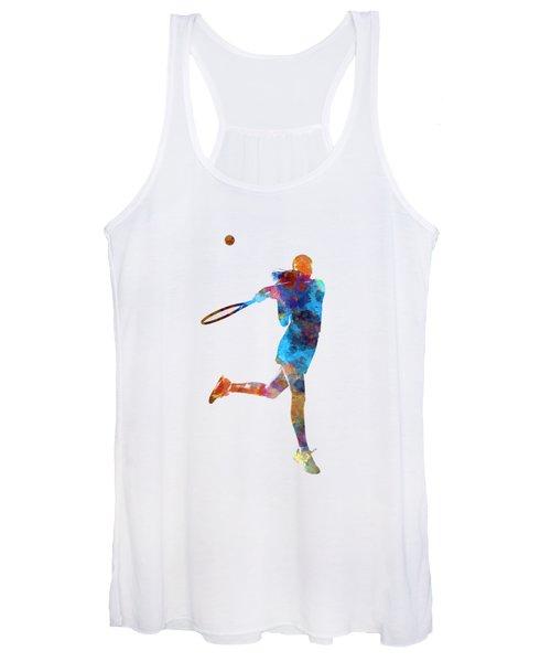 Woman Tennis Player 03 In Watercolor Women's Tank Top