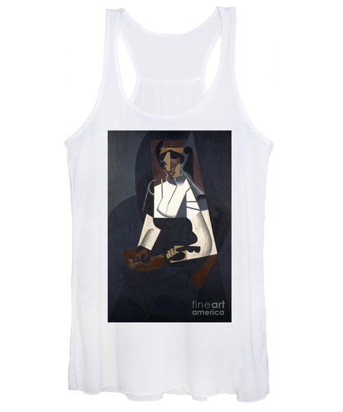 Woman With Mandolin Women's Tank Top