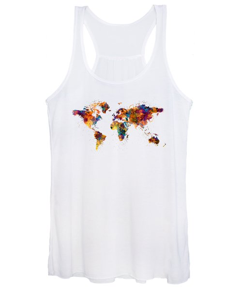 World Map Women's Tank Top