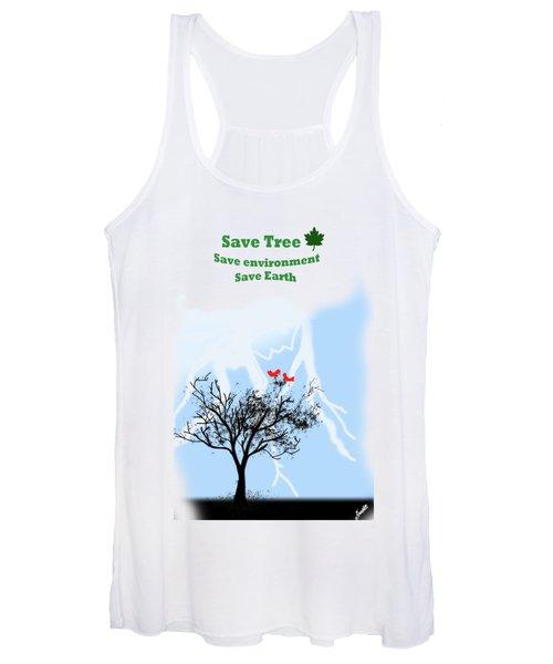 World With Tree Women's Tank Top