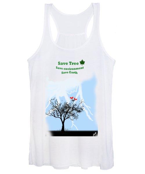 23eb5689536fcb World With Tree Women s Tank Top