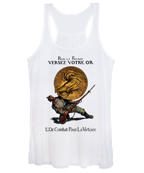 Wwi Gold For French Victory Women's Tank Top