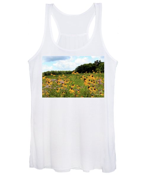 Yellow Cone Flowers Women's Tank Top