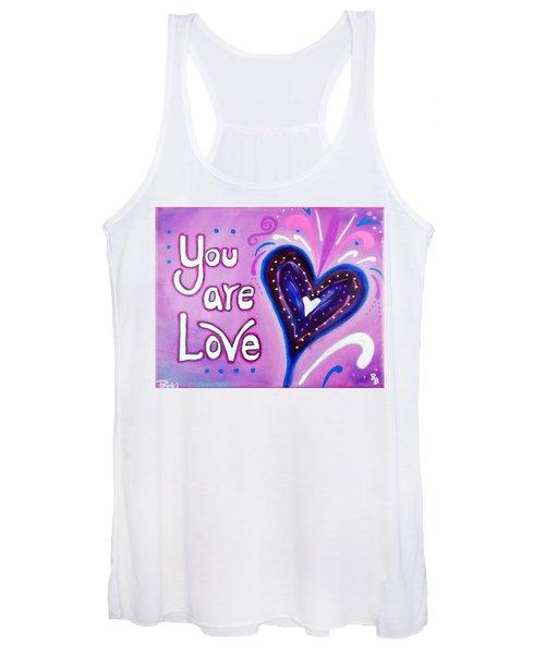 You Are Love Purple Heart Women's Tank Top