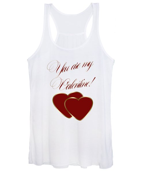 You Are My Valentine Digital Typography Women's Tank Top