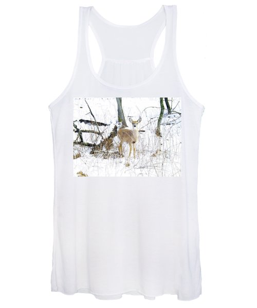 Young Doe And Spring Snow Women's Tank Top