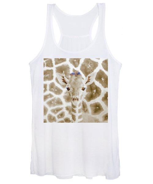 Young Giraffe Women's Tank Top