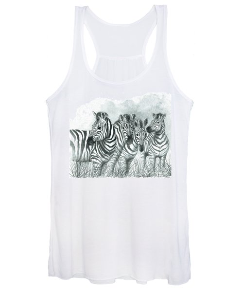 Zebra Quartet Women's Tank Top