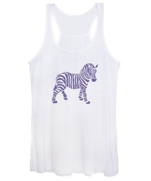 Zebra Stripes Pattern Women's Tank Top