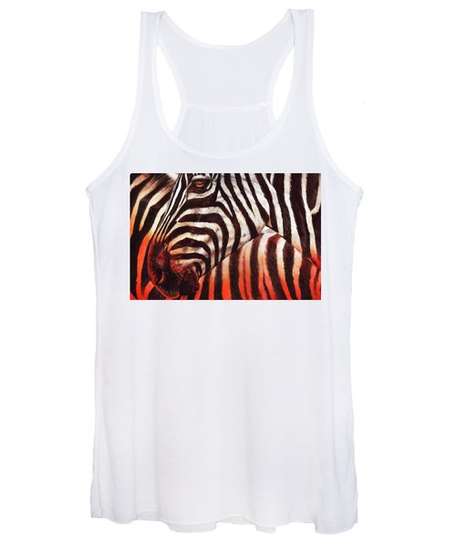 Zebra Sunset Women's Tank Top