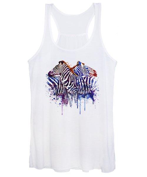 Zebras In Love Women's Tank Top