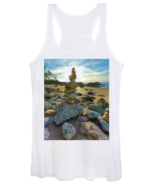 Zen Rock Balance Women's Tank Top